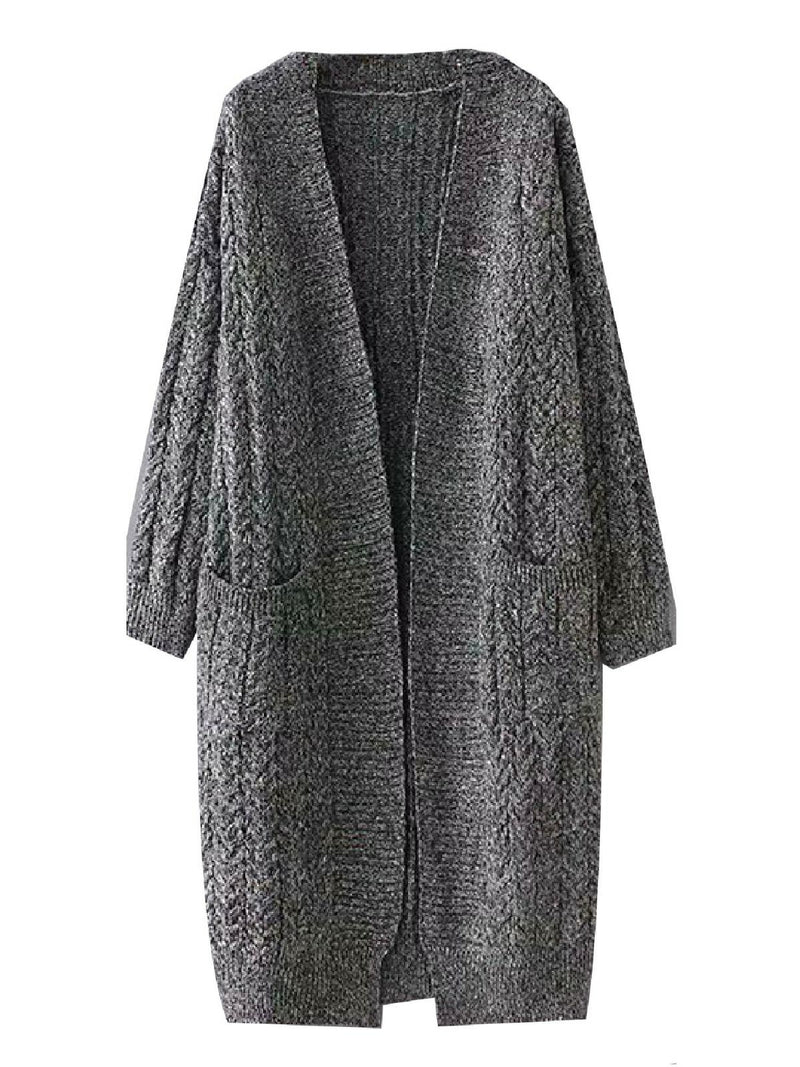'Jessica' Pocket Front Knitted Long Cardigan (2 Colors)