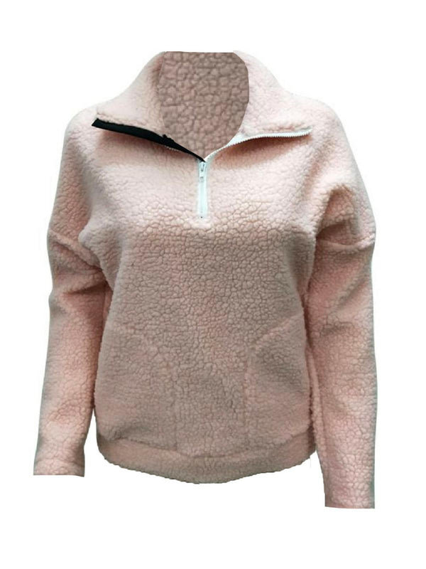 'Natasha' Half-Zip Pocket Front Fleece Pullover