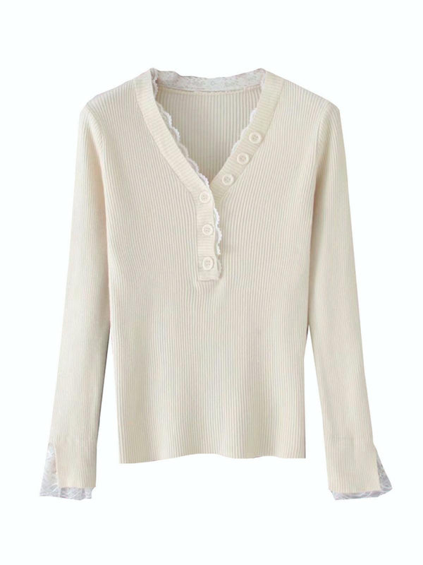 'Danielle' Lace Thermal Top