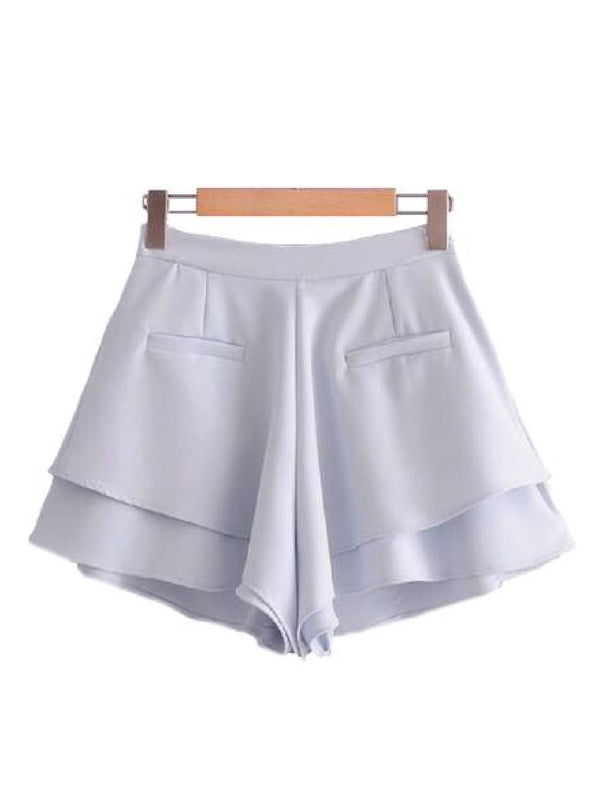 Goodnight Macaroon 'Abi' Crepe Frill Shorts Back