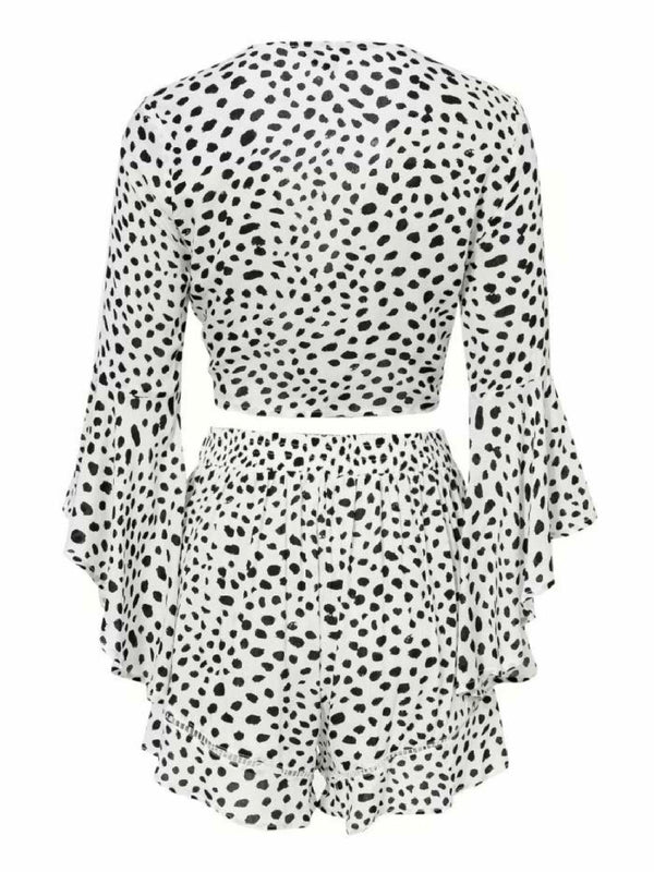 'Leeza' Dotted Crochet Front Tied Co-Ord