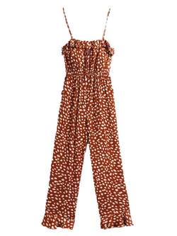 'Bambi' Animal Print Strap Jumpsuit with Pockets (2 Colors)