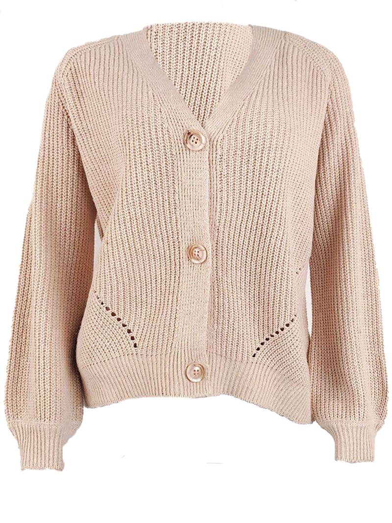 'Oakleigh' V-Neck Button Down Cardigan (4 Colors)