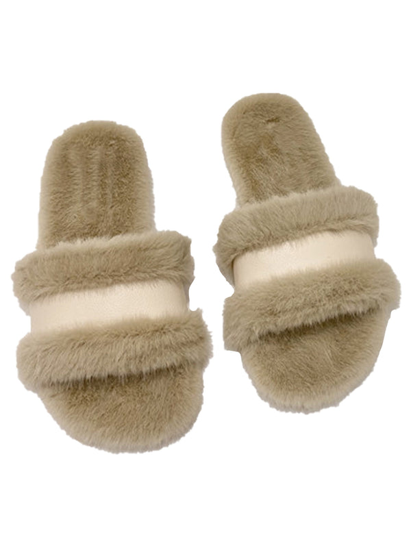 'Hilary' Faux Fur Slides (3 Colors)