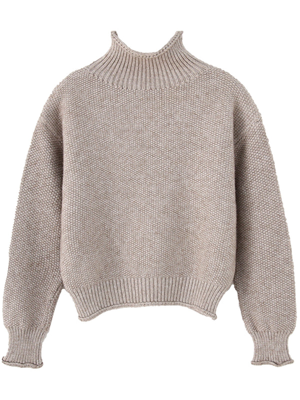 'Willow' Mock Neck Knitted Sweater (6 Colors)
