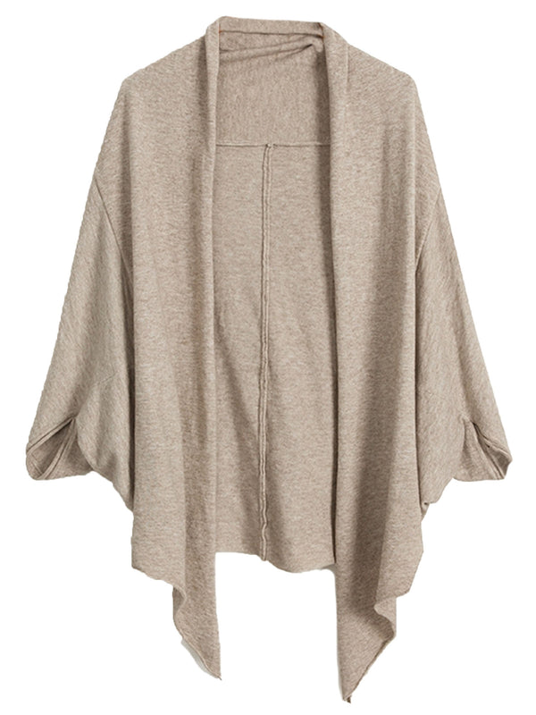 'Maeve' Shawl Knitted Open Cardigan (3 Colors)