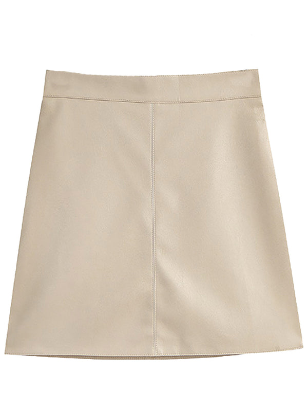 'Krista' Faux Leather Mini Skirt (3 Colors)