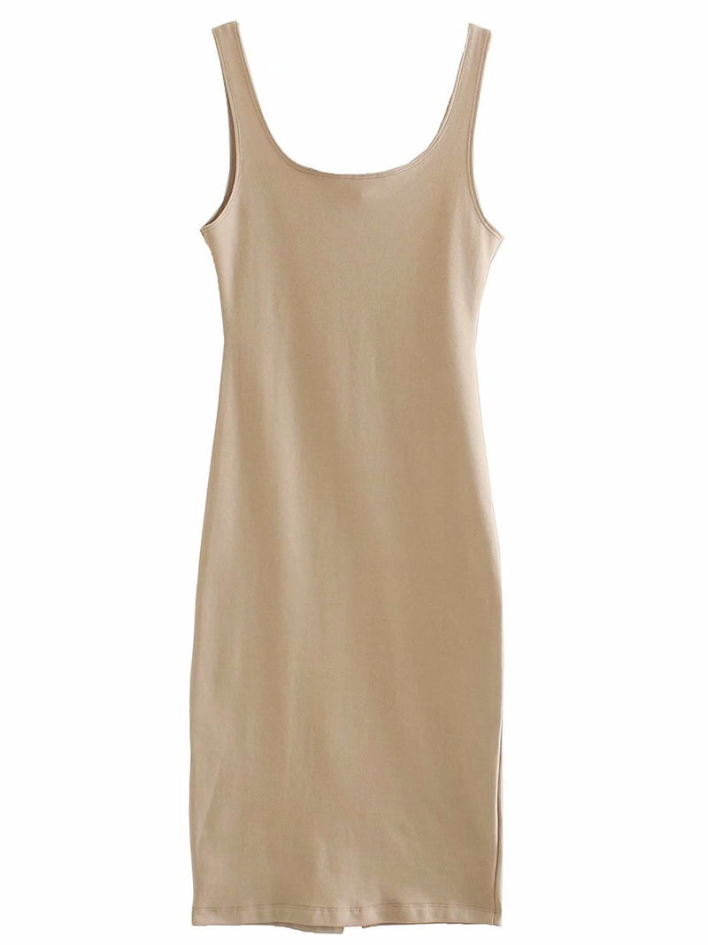 'Rose' Stretchy Bodycon Tank Dress (4 Colors)