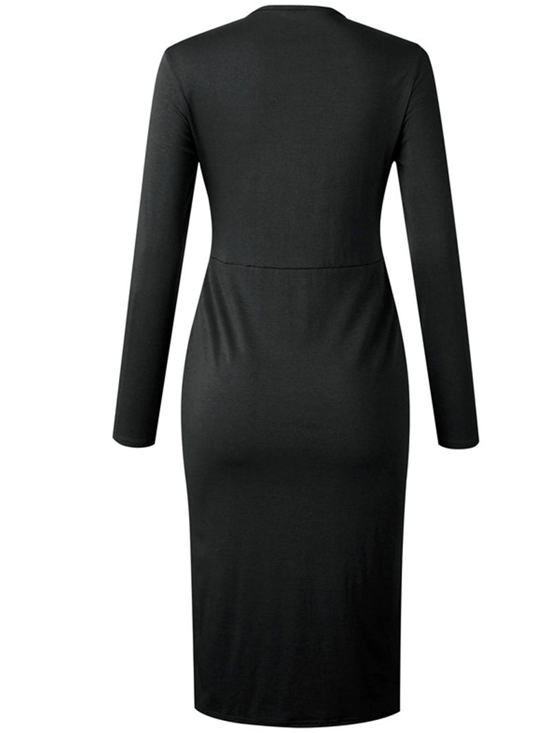 'Haisley' Knotted Front Button Midi Dress (3 Colors)