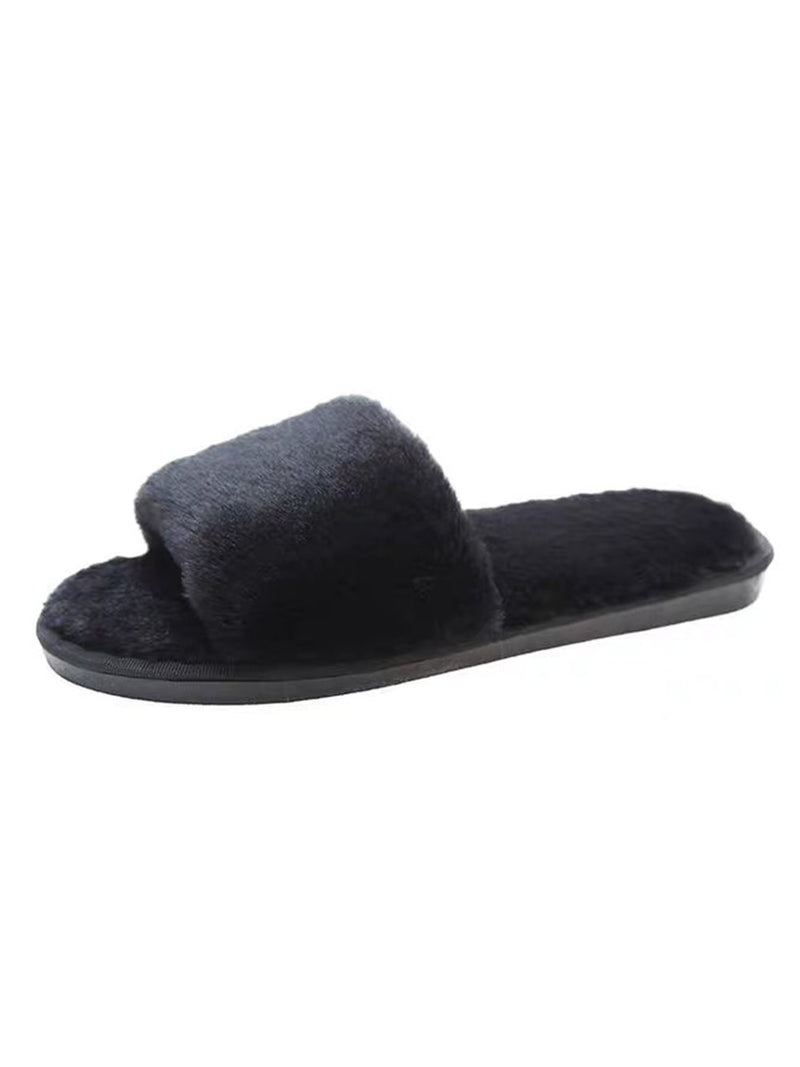 'Dulce' Fur Slippers (5 Colors)