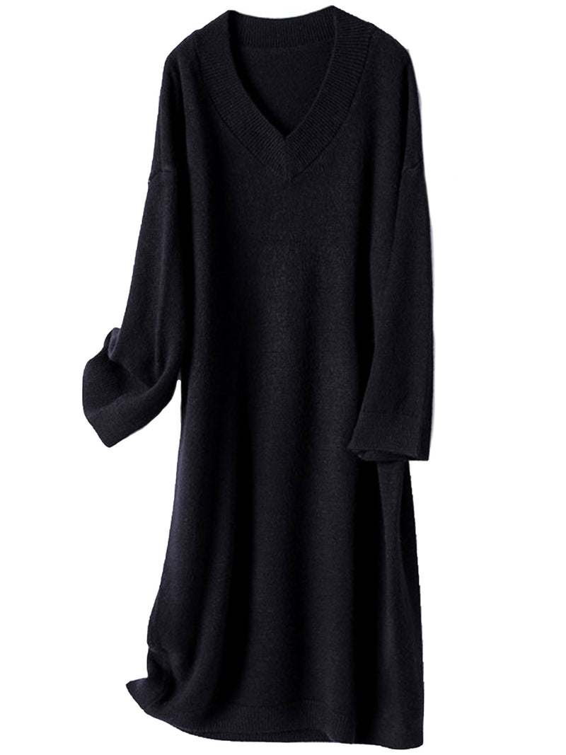 'Natalia' V-neck Sweater Dress (3 Colors)