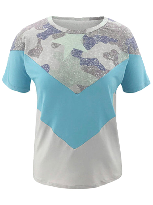 'Pansy' Camouflage V Pattern T-Shirt (2 Colors)