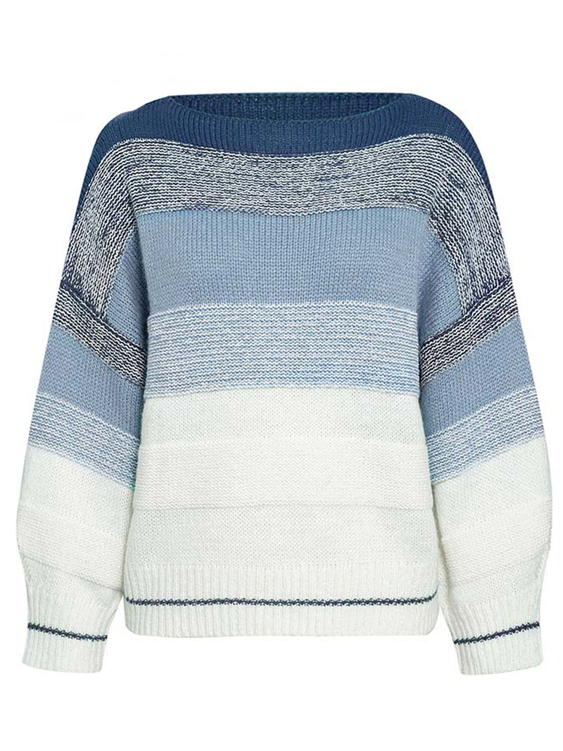 'Ellie' Boat Neck Striped Sweater (3 Colors)