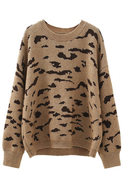 'Stella' Leopard Print Crewneck Sweater (3 Colors)