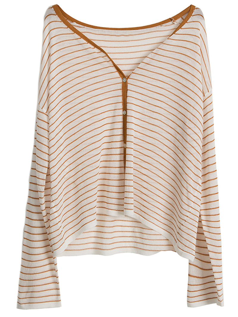 'Maddie' Light Weight Striped Cardigan (3 Colors)