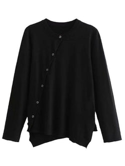 'Cadence' Asymmetrical Button Cardigan