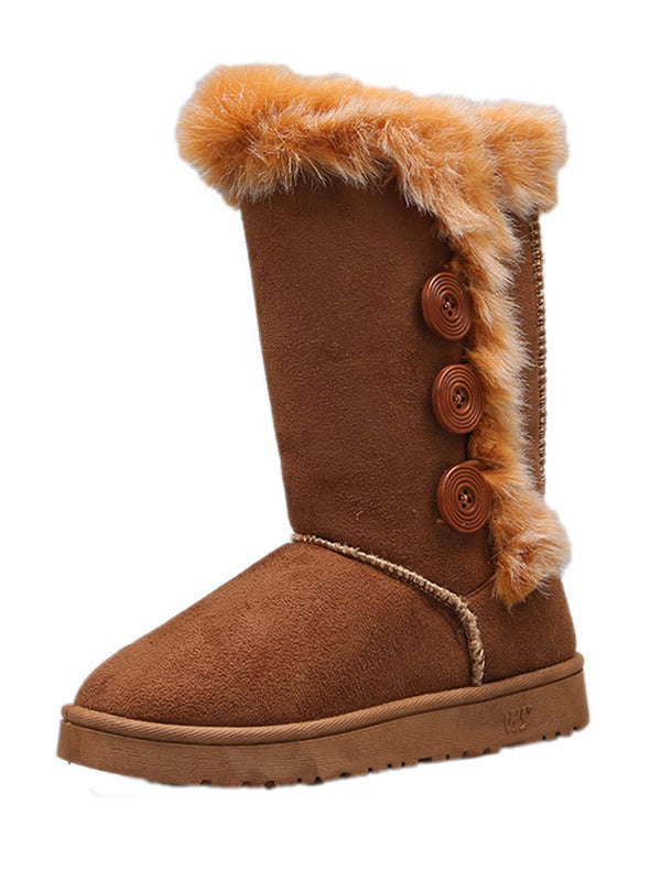 'Georgia' Faux Fur Boots (4 Colors)