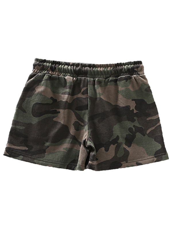 'Kinsley' Camouflage Drawstring Shorts