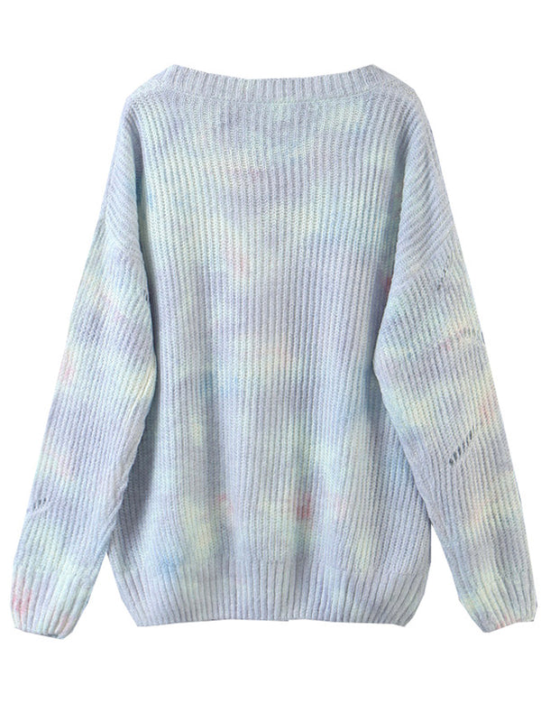 'Emma' Soft Tie Dye Button Down Cardigan