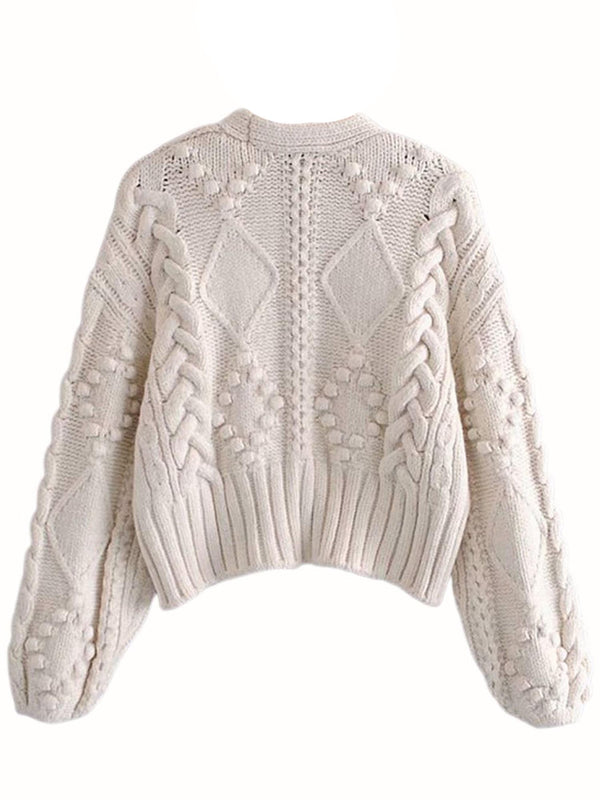 'Jasmine' Chunky Cable Knit Cardigan