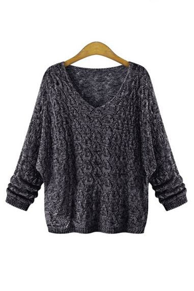 Flore Sheer V-neck Sweater - Goodnight Macaroon