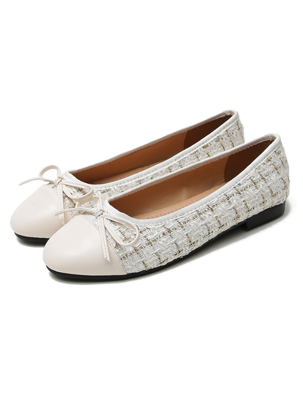 'Isabella' Tweed Flat Shoes (3 Colors)