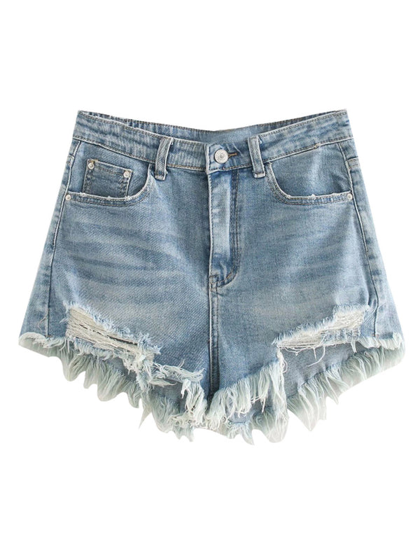 'Cheryl' Distressed Denim Shorts
