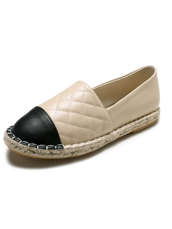 'Nina' Quilted Faux Leather Espadrilles (2 Colors)