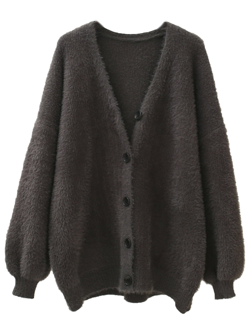 'Nadine' Fluffly Button Up Cardigan (4 Colors)