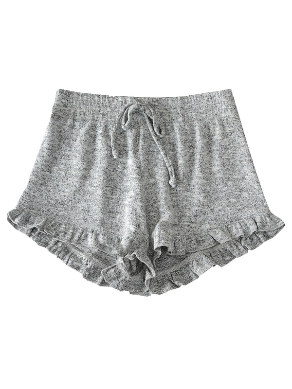 'Jennifer' Cheeky Frill Hem PJ Shorts (4 Colors)