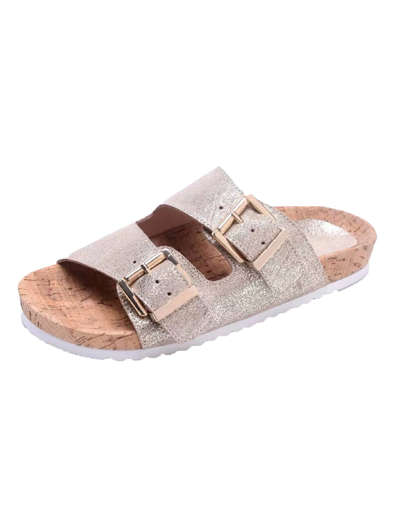 'Scarlett' Buckle Sandals (4 Colors)