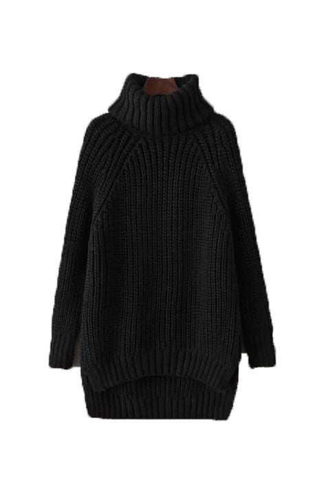 'Erin' Turtleneck Chunky Knit Sweater - 2 Colors