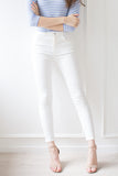'City' White Skinny Jeans ( Regular / Petite )