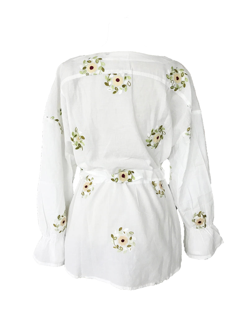 'Melanie' Floral Embroidered Top