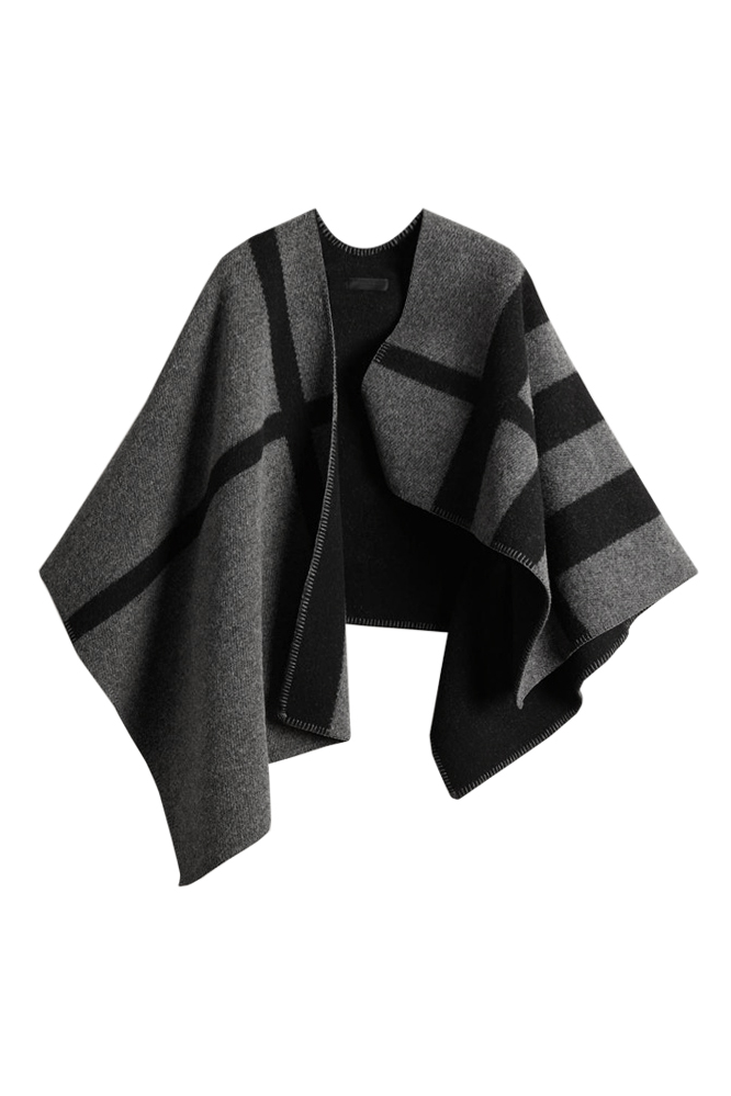 Layla Cape - Classic Charcoal Grey Plaid - Goodnight Macaroon