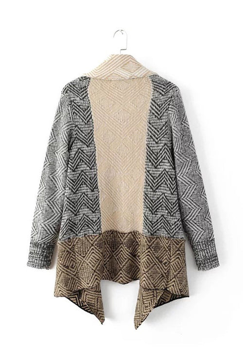 'Ulyana' Lapel Collar Cardigan