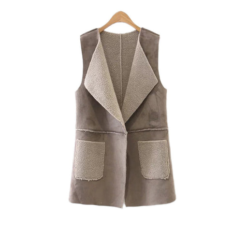 'Bailey' Shearling Faux Suede Vest