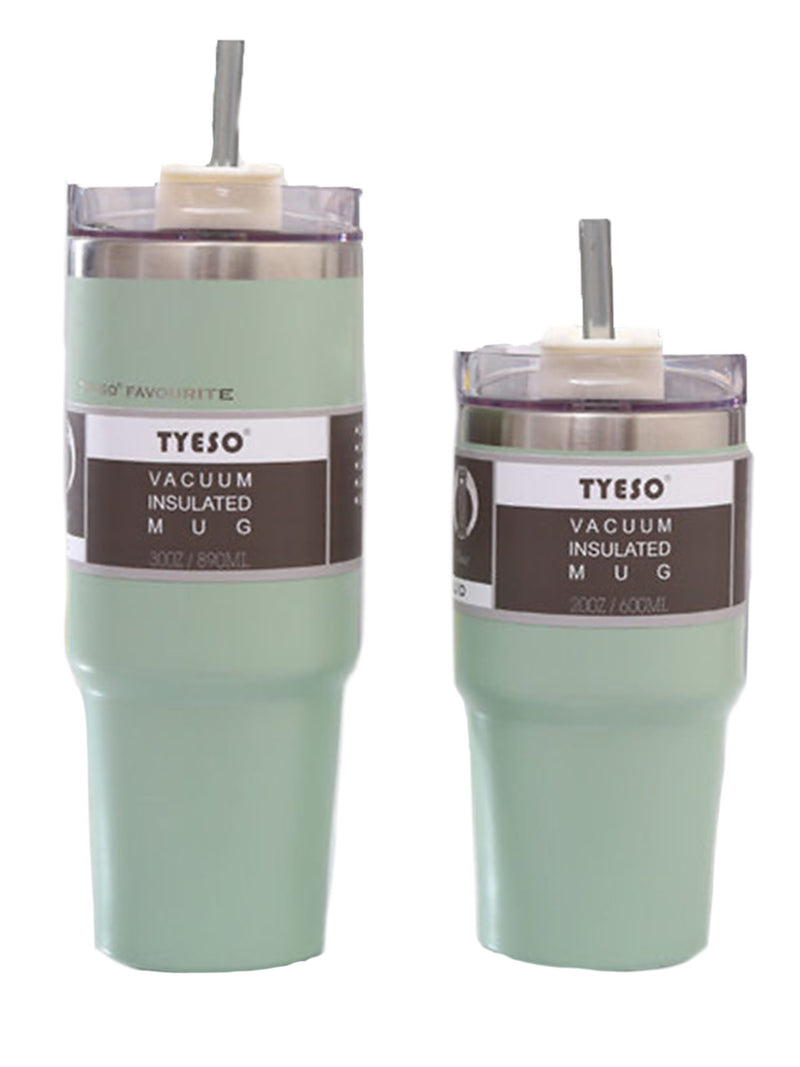Vacuum Insulated Mug with Straw (5 Colors)