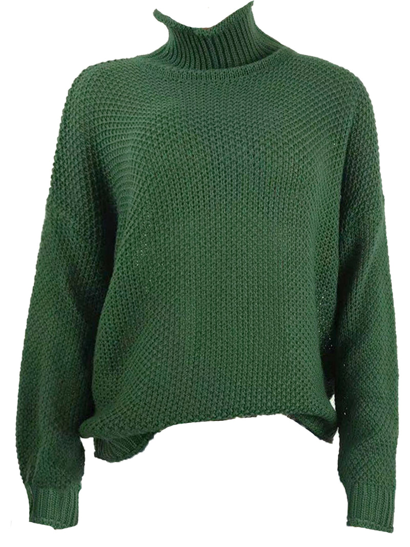 'Seneca' High Neck Chunky Knit Sweater (4 Colors)