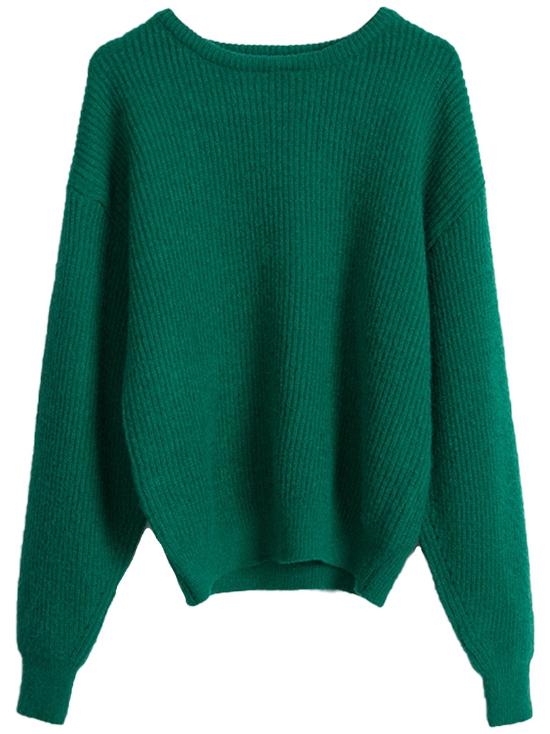 'Miranda' Wide Neck Ribbed Sweater (6 Colors)