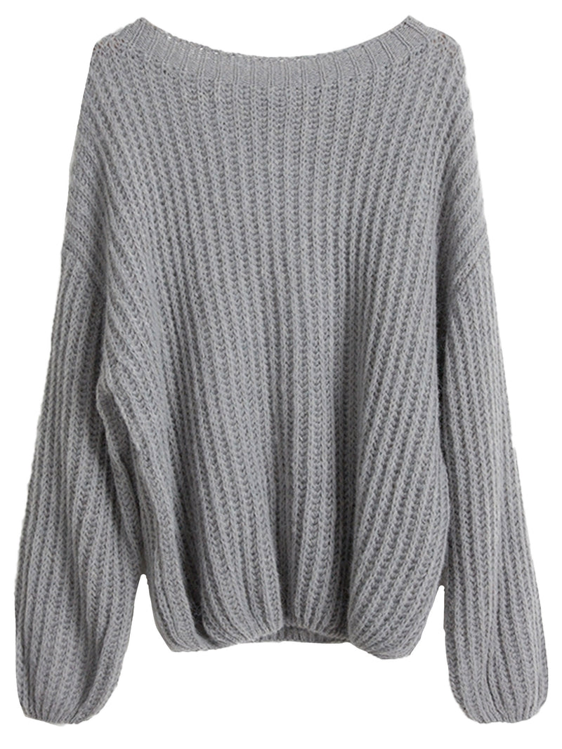 'Cali' Wide Neck Loose Knit Sweater (4 Colors)