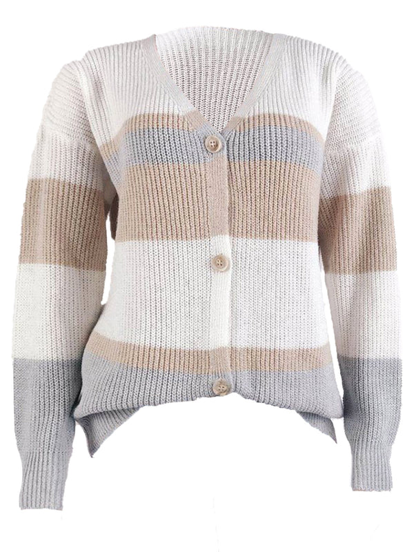 'Jennifer' Colorblock Button Down Cardigan (3 Colors)