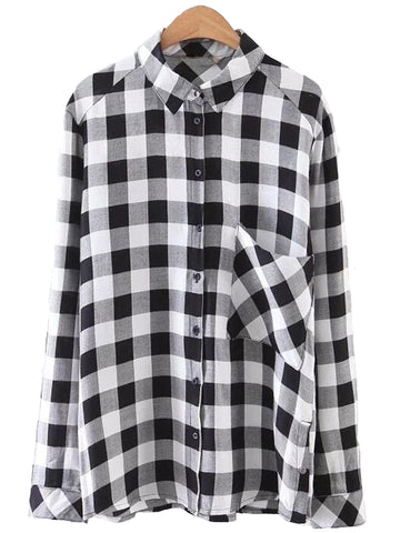 'Terri' Gingham Pocket Shirt