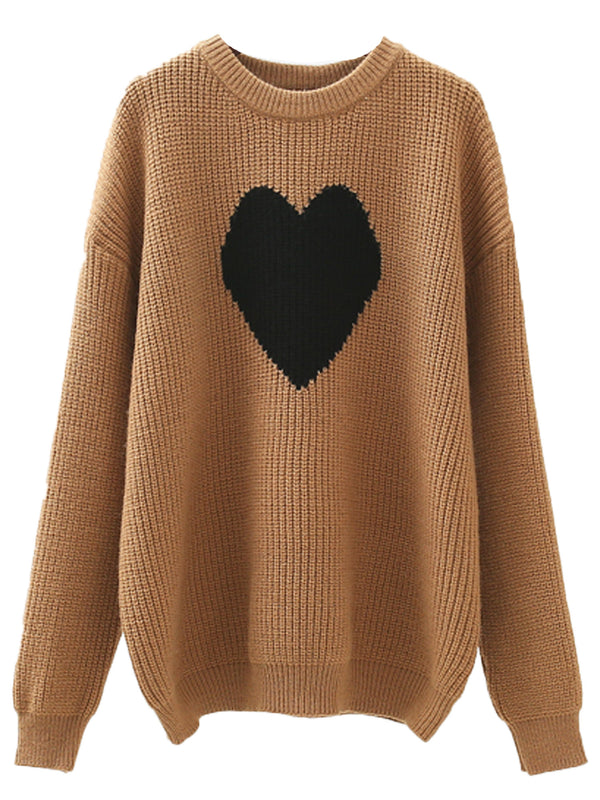 'Eliza' Heart Crewneck Sweater (3 Colors)