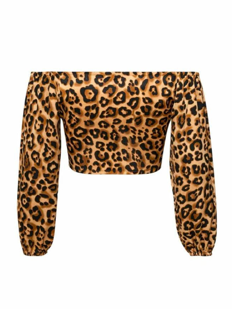 'Brielle' Leopard Print Off The Shoulder Top