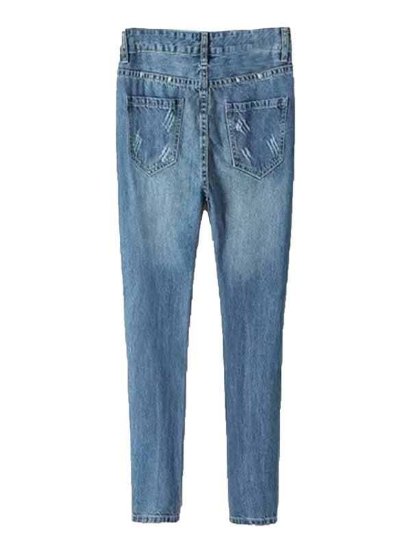 'Leilani' High Waisted Distressed Boyfriend Jeans