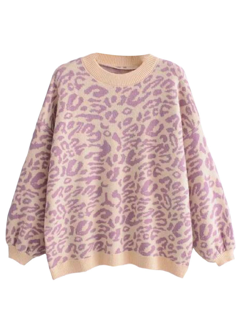 'Kanya' Crewneck Leopard Print Sweater (3 Colors)