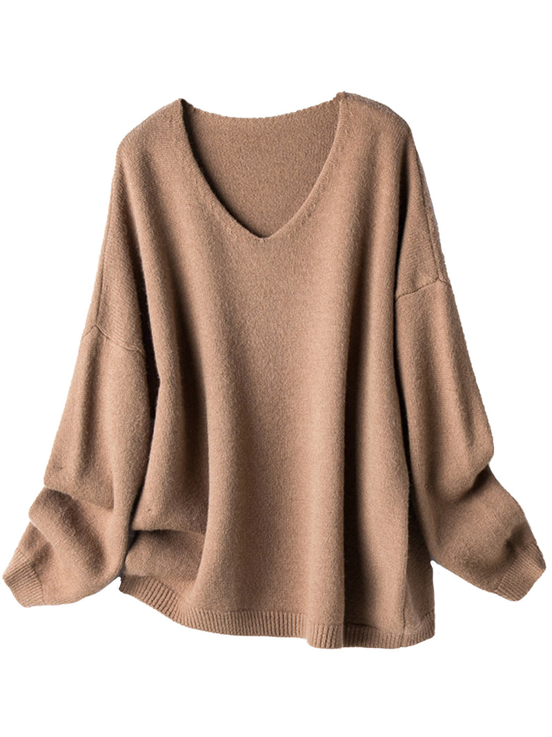 'West' V-Neck Loose Sweater (2 Colors)