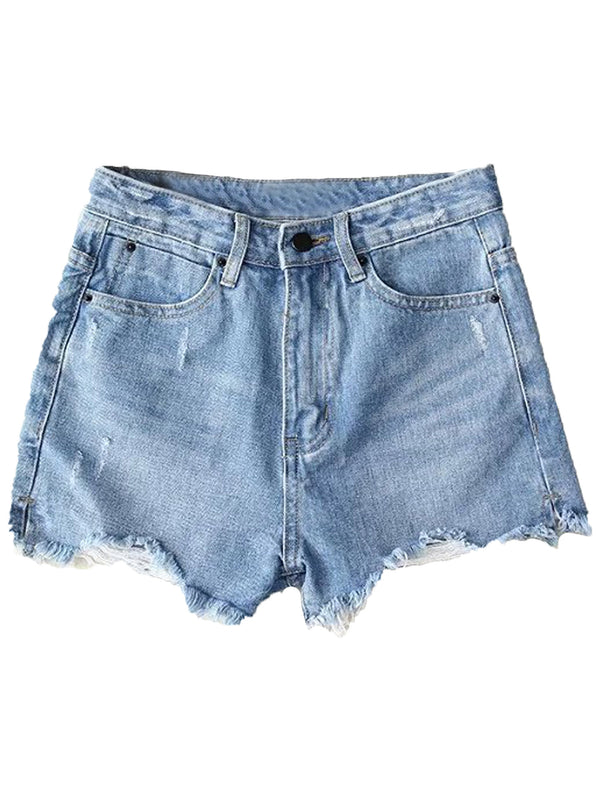 'Rylee' High Waisted Distressed Denim Shorts (3 Colors)