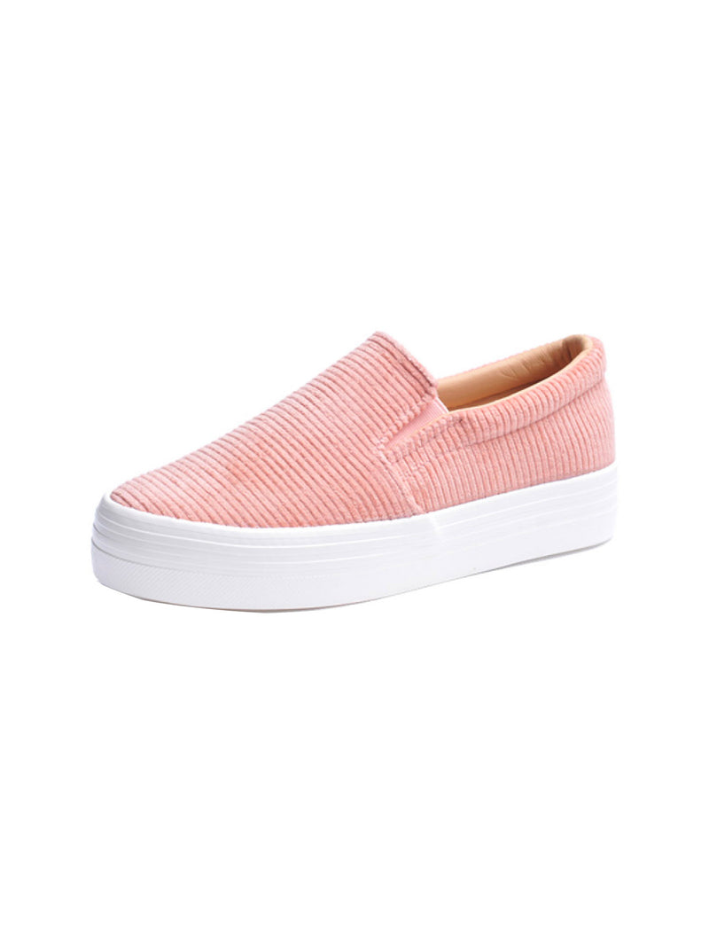 'Lokki' Corduroy Platform Slip-on Sneakers (2 Colors)